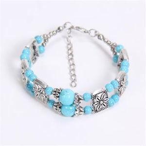Cute Silver & Turquoise Bracelet
